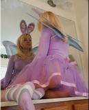 Cute Buxom Bunny Blonde