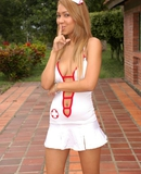 Naughty Nurse Tania will be sure to make you feel better