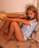 Brooke Marks popcorn and downblouse