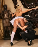 Cute maid Aaliyah Love dominated by Veronica Avluv