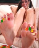 Misty Gates gummy bears and foot loving